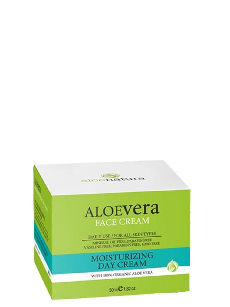 AloeNatura Увлажняющий дневной крем 50 мл5200310403248Увлажняющий легкий дневной крем для лица. Формула содержит миндальное масло, активный экстракт органического алоэ-вера и витамины, которые поддерживают влажность кожи на естественном уровне в течении всего дня. Подходит для любого типа кожи. Рекомендуется использовать с 20 лет. Косметика произведена в Греции на основе органического сырья, НЕ СОДЕРЖИТ минеральные масла, вазелин, пропиленгликоль, парабены, генетически модифицированные продукты (ГМО)
