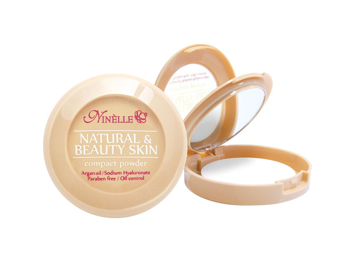 Ninelle Пудра компактная Natural & Beauty Skin № 32930N10634Устойчивая компактная пудра Natural & Beauty Skin обладает нежной, шелковистой текстурой и ложится на лицо, словно вторая кожа. Входящие в ее состав питательные, увлажняющие и защитные компоненты заботливо и интенсивно ухаживают за кожей и дарят ей ощущение комфорта. Пудра идеально выравнивает тон и текстуру кожи, скрывает недостатки, абсорбирует излишки жира. Теперь Вы можете быть уверены: Ваш макияж останется безупречным при любых испытаниях!