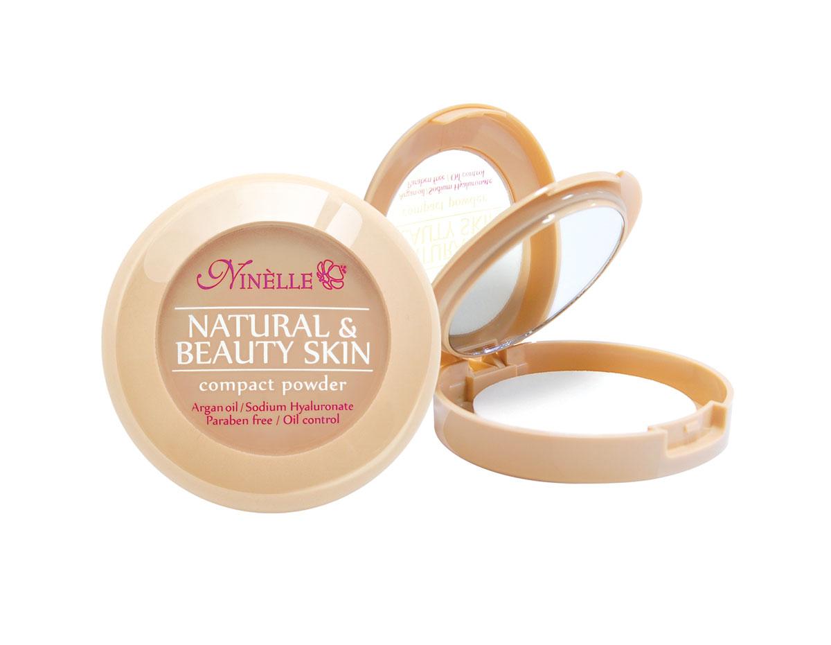 Ninelle Пудра компактная Natural & Beauty Skin № 35933N10637Устойчивая компактная пудра Natural & Beauty Skin обладает нежной, шелковистой текстурой и ложится на лицо, словно вторая кожа. Входящие в ее состав питательные, увлажняющие и защитные компоненты заботливо и интенсивно ухаживают за кожей и дарят ей ощущение комфорта. Пудра идеально выравнивает тон и текстуру кожи, скрывает недостатки, абсорбирует излишки жира. Теперь Вы можете быть уверены: Ваш макияж останется безупречным при любых испытаниях!