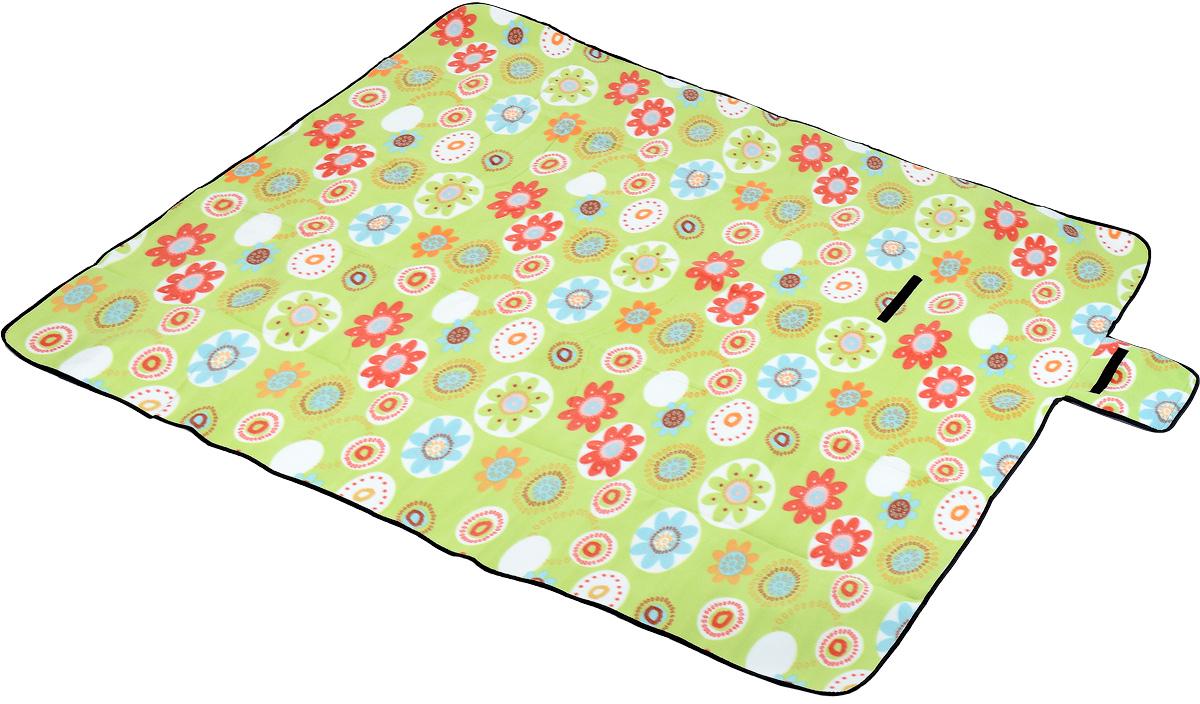 Коврик для пикника Wildman Камелот, цвет: зеленый, голубой, красный, 200 х 200 см81-397_зеленый, цветыКоврик для пикника Wildman Камелот, выполненный из хлопка и алюминиевой пленки, позволит полноценно отдохнуть на природе. Он легкий, не занимает много места и прекрасно изолирует человеческое тело от холода и влаги. Мягкая поверхность коврика защищает от неровностей почвы, поэтому туристам, имеющим такую подстилку, гарантирован, кроме удобного отдыха, еще и комфортный сон. Сворачивается в рулон и закрывается при помощи крепления язычок.