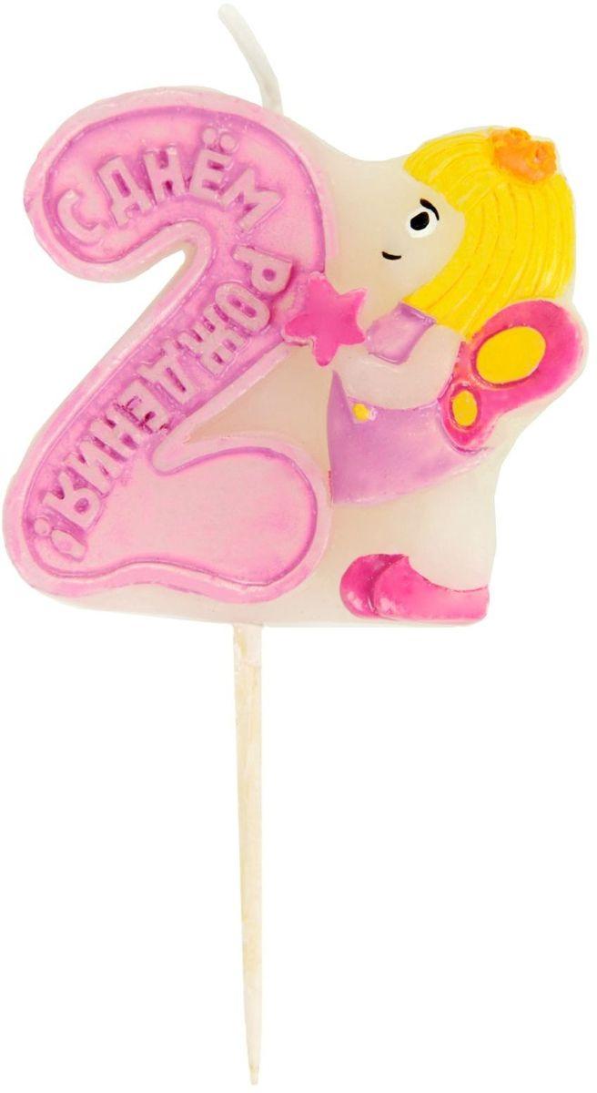 Sima-land Свеча в торт Фея цифра 2, 5 х 8,5 см 841868841868В День Рождения порой случаются настоящие чудеса, ведь это особенный праздник. Сделать его ярким и запоминающимся помогут волшебные свечи для именинного торта, задувая которые вы приближаете исполнение заветной мечты.