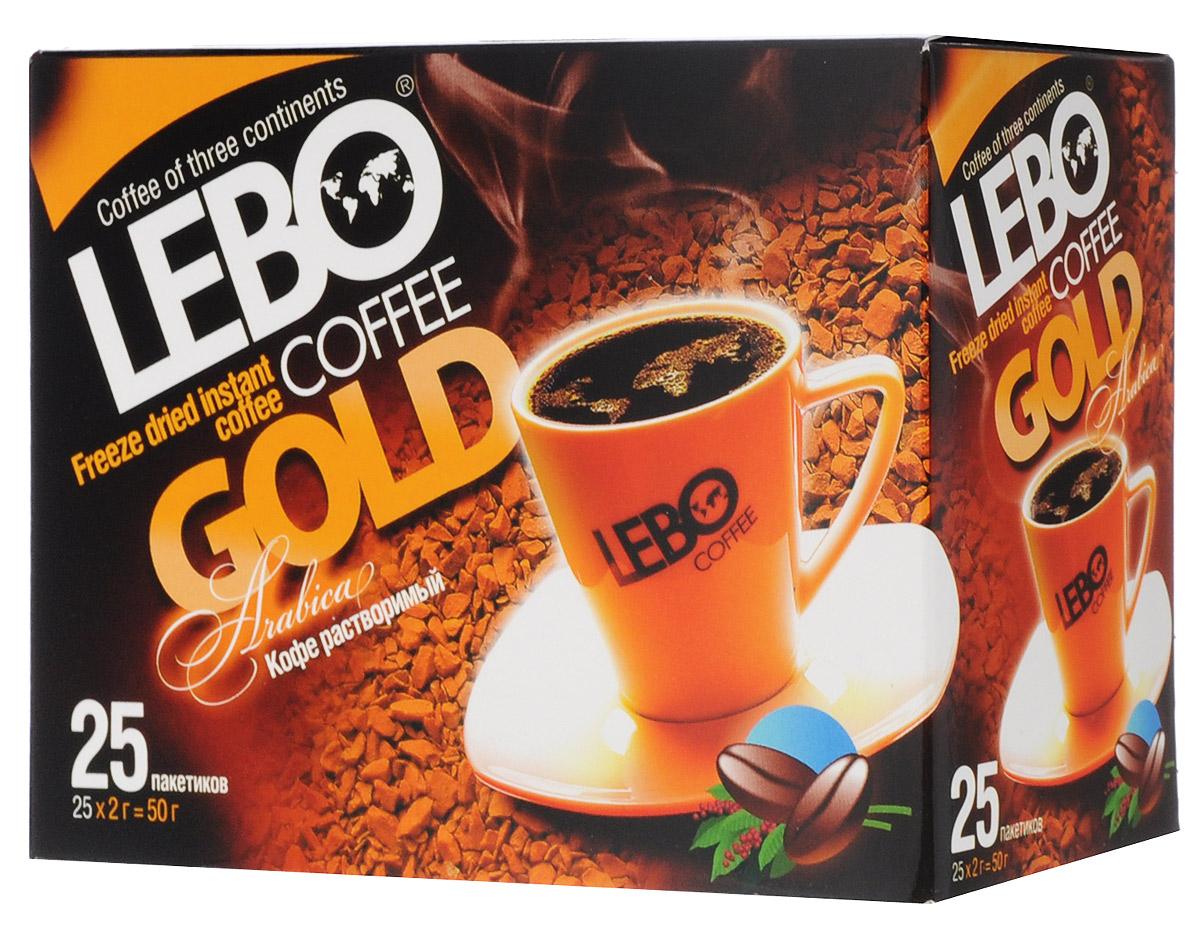 Lebo Gold кофе растворимый порционный, 25 шт х 2 г