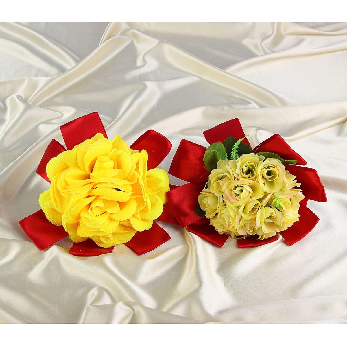 Букет-дублер Sima-land, цвет: желтый, красный. 12511641251164Добавьте в интерьер частичку весны! Дублер букета невесты из желтых цветов в красном оформлении, микс будет радовать неувядающей красотой не один год. Просто поставьте его в вазу или создайте пышную композицию. Искусственные растения не требуют поливки, особого освещения и другого специального ухода. Они украсят любое помещение (например, ванную с повышенной влажностью или затемнённый коридор). Дом становится уютным благодаря мелочам. Преобразите интерьер, а вместе с ним улучшится и настроение
