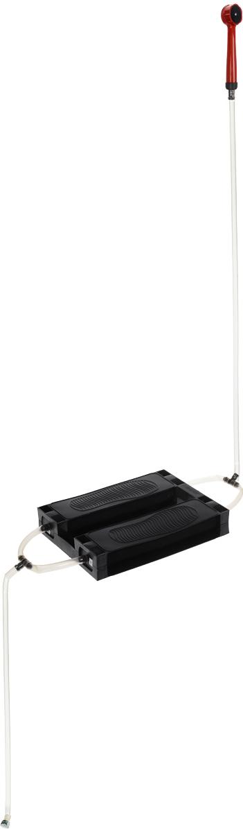 Душ-топтун Zenet, цвет: черный, прозрачный, красный00-00000507Душ-топтун Zenet – легкое и компактное устройство, простое в эксплуатации и надежное, так как благодаря простоте конструкции ломаться в нем нечему. Душ предназначен для использования в летний период времени, на даче, в походе и даже в период времени, когда отключают горячую воду в квартире. Изделие имеет простую конструкцию, без каких-либо сложных элементов, за счет чего он надежен и прост. А взять его с собой, никогда не составит труда. Чтобы накачать воздух, для того, чтобы пошла вода, достаточно топтаться на педалях - душ работает по принципу лодочного насоса лягушка. Принцип работы настолько прост, что с ним справится как пожилой человек, так и ребенок. С покупкой дачного душа, мытье станет приятной забавой для ваших детей. Душ для дачи будет выручать вас снова и снова. Благодаря эластичным подушкам, на которые необходимо нажимать, воду из шланга можно поднять до 2 м. Отличный забор воды гарантирован, ведь шланги для душа сделаны из толстого и...