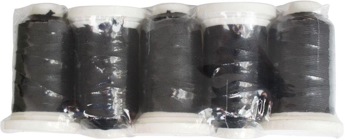 Нить филаментная, 1000D/3, 91,44м, 5 шт, Астра (9020 черный)