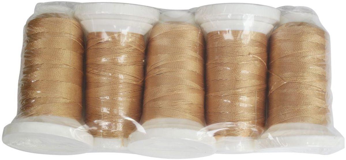 Нить филаментная, 420D/3, 137м, 5 шт, Астра (2004 золото)