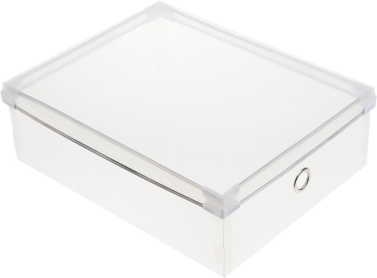 Короб для хранения Miolla, 36,5 х 28 х 13 смPB-008_прозрачныйКороб для хранения Miolla изготовлен из прозрачного полипропилена. Изделие поставляется в разобранном виде, легко и быстро складывается. Оснащен крышкой и металлическим отверстием, которое позволяет удобно его выдвигать. Такой короб прекрасно подойдет для хранения бытовых мелочей, аксессуаров для рукоделия и других мелких предметов. С ним все мелкие вещи будут храниться аккуратно и не потеряются. Размер изделия (в собранном виде): 36,5 х 28 х 13 см.