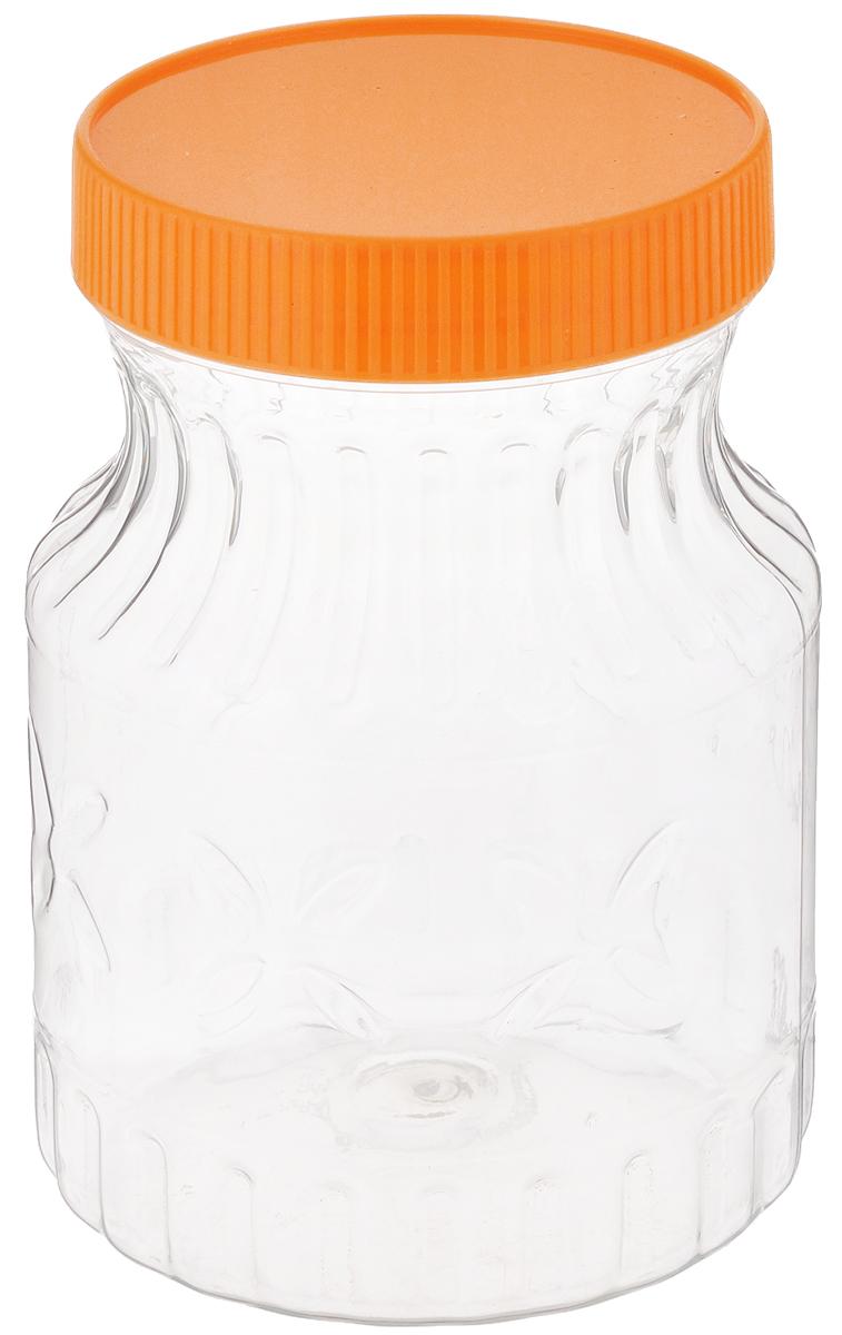 Банка Альтернатива Медовая, цвет: оранжевый, прозрачный, 700 млM966_оранжевый, прозрачныйБанка Альтернатива Медовая изготовлена из прозрачного пластика. Изделие абсолютно безопасно для контакта с пищевыми продуктами. Банка закрывается крышкой, которая защищает содержимое от влаги и сохраняет продукты ароматными и свежими. В такой банке можно хранить мед, варенье, различные сыпучие продукты. Она практична и функциональна, пригодится в любом хозяйстве. Диаметр банки (по верхнему краю): 8 см. Высота банки (с учетом крышки): 14 см.