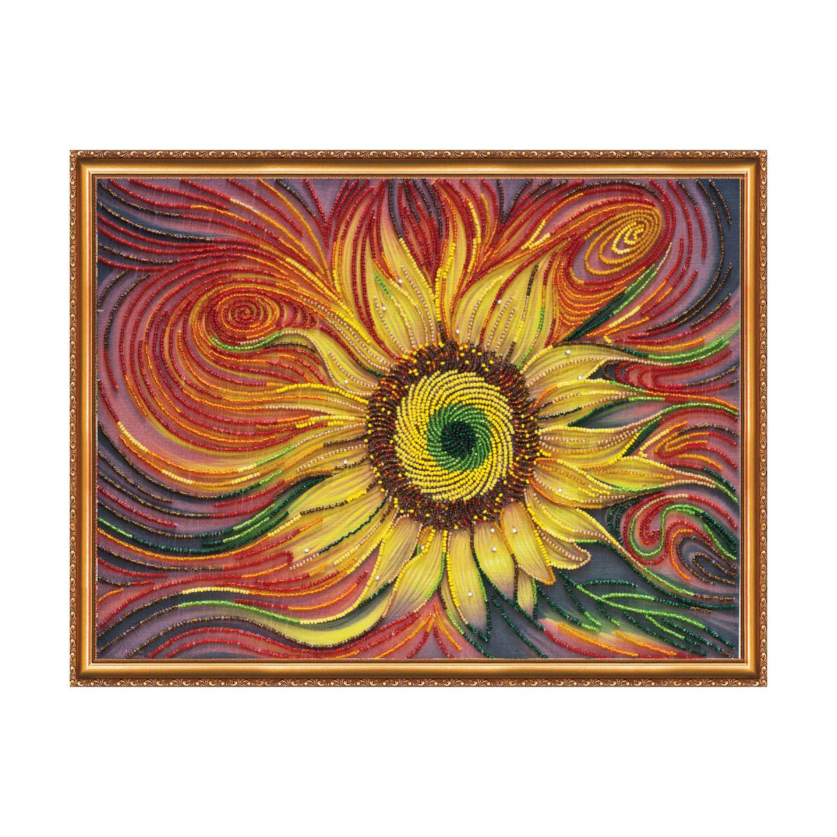 Набор для вышивания Абрис Арт Солнцебиение, 40 х 30 см581825В состав набора входит: натуральный художественный холст с нанесенным изображением-схемой, бисер Чехия, бисерные иглы, инструкция.