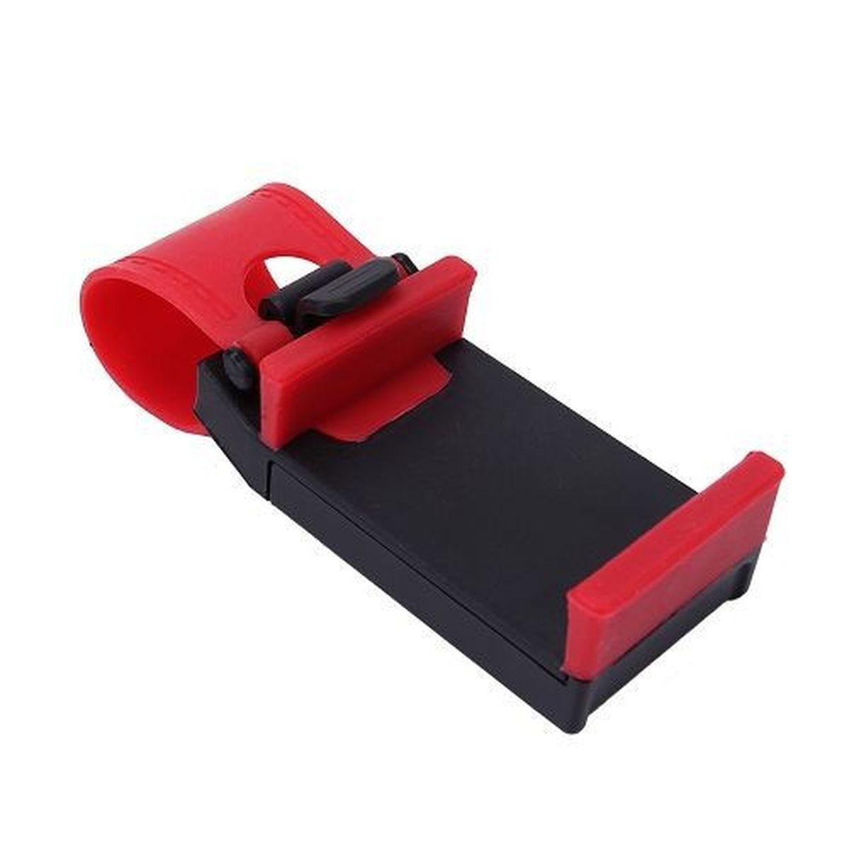 Держатель автомобильный Оранжевый слоник, для телефона, цвет: красныйACL0002RДержатель устанавливается на автомобильный руль при помощи ремня, выполненного из термопластичной резины. Держатель изготовлен из высококачественного ABS пластика. Ударопрочная противоскользящая конструкция гарантирует удобство пользования и сохранность вашего устройства. Максимальное расширение зажима: 7,5 см.