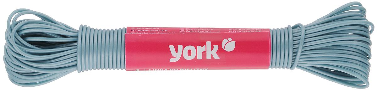 Веревка бельевая York, цвет: серый, длина 20 м9681/096810_серыйБельевая веревка York изготовлена из сложных полимеров. Она очень крепкая и надежная. При натягивании не провисает. Длина веревки: 20 м. Диаметр веревки: 2 мм.