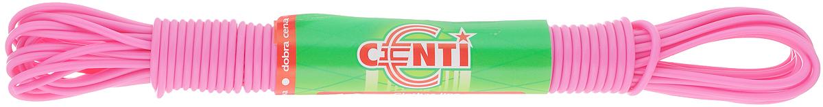 Шнур для белья Centi, цвет: розовый, 10 м9680/096800_розовыйБельевая веревка Centi изготовлена из высококачественного полиэтилена и полипропилена. Веревка очень крепкая и надежная. При натягивании не провисает. Длина веревки: 10 м. Диаметр веревки: 2 мм.