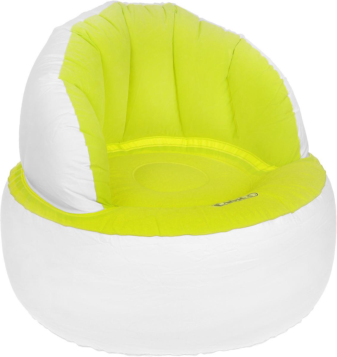 Кресло надувное Jilong Easigo Chair, цвет: салатовый, белый, 85 х 85 х 74 смJL037265NКресло надувное Jilong Easigo Chair выполнено из высококачественного винила с велюровым покрытием. Отлично подойдет для использования дома или в офисе. Особенности кресла: Водоотталкивающее флоковое покрытие. Специальная конструкция с хорошей поддержкой не только спины, но и поясницы Самоклеящаяся заплатка прилагается. Сдержанный дизайн, нейтральные цвета подходят к любому интерьеру и делают надувное кресло отличным выбором. Кресло поставляется в сдутом виде.