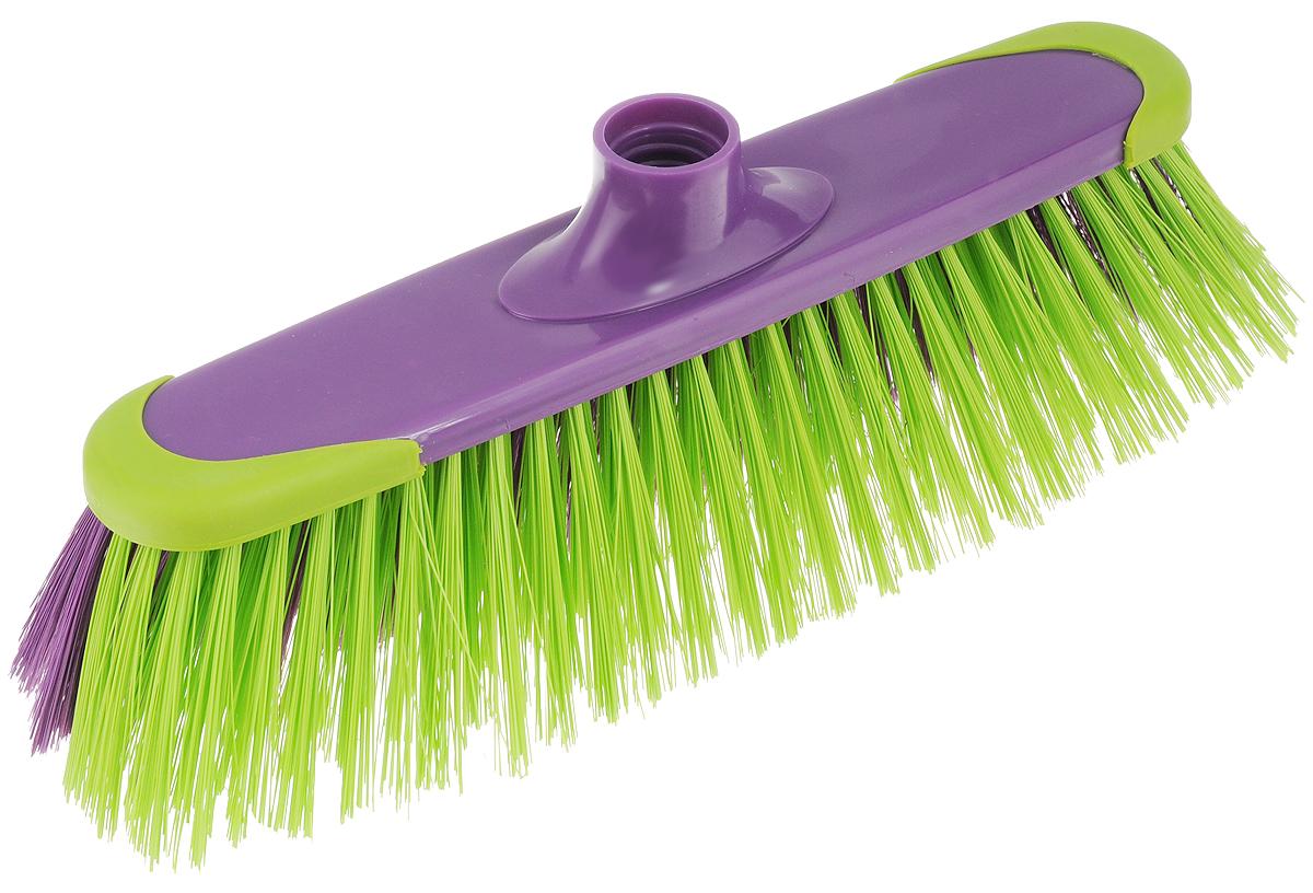 Щетка York Prestige, без ручки, цвет: фиолетовый, зеленый. 50175017_фиолетовый, зеленыйЩетка York Prestige изготовлена из пластика и предназначена для уборки сухого мусора. Щетка оснащена универсальной резьбой, которая подходит ко всем видам ручек. Ворс щетки двухцветный: с одной стороны - мягкий, с другой - жесткий. Такая щетка позволит качественно и быстро собрать мусор. Размер щетки: 31 см х 9 см. Длина ворса: 6 см. Диаметр отверстия под ручку: 2,4 см.