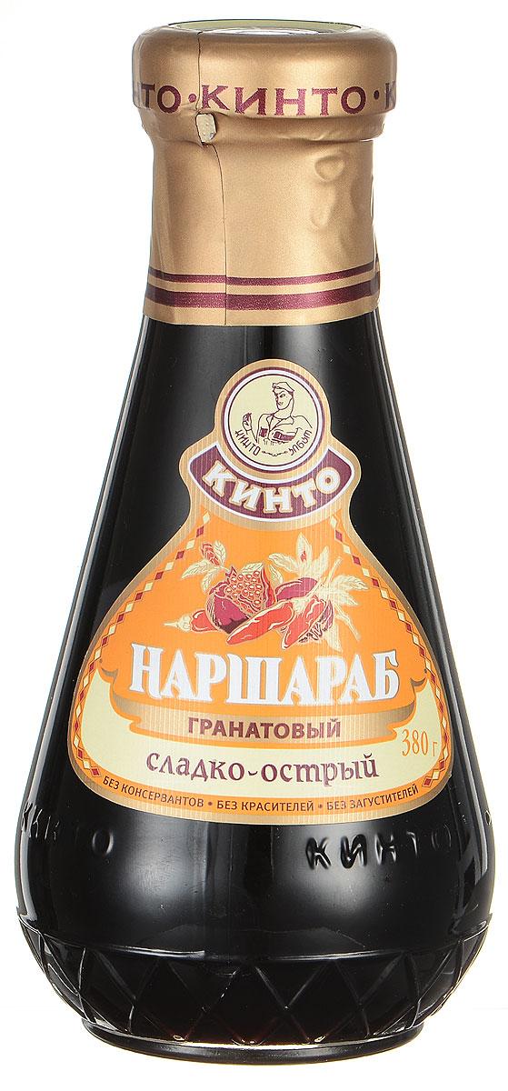"""Гранатовый соус Кинто """"Наршараб"""" производится исключительно из культурного и дикорастущего граната, произрастающего в Азербайджане. Перцы Tabasco в составе соуса придают ему особую пикантность. Не содержит ГМО, красителей, загустителей и консервантов. Соус обладает приятным, пикантным, гармоничным вкусом. Гранатовый соус великолепно подходит к мясным и рыбным блюдам и способен покорить сердце любого гурмана."""