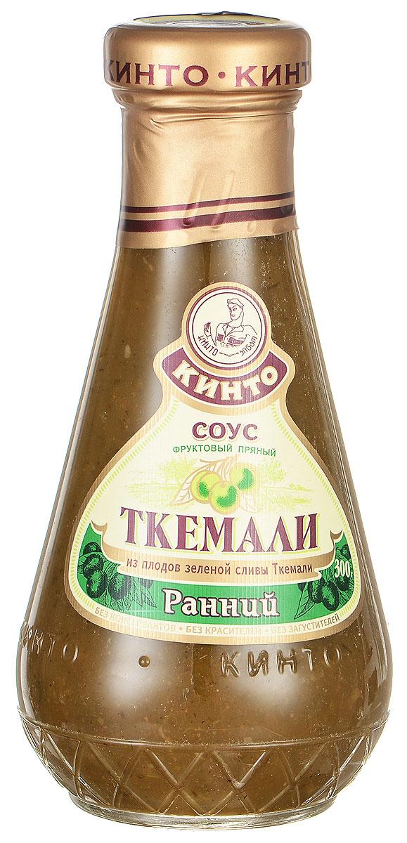 Кинто Ткемали ранний соус фруктовый, 300 г2525Фруктовый пряный соус Кинто Ткемали ранний изготовлен из зеленой сливы ткемали с ярко выраженным вкусом и ароматом. Рекомендуется с отварной птицей, рыбой, мясом, молодым картофелем и цыпленком. Не содержит ГМО, консервантов, загустителей и красителей. Соусы ткемали занимают одно из почетных мест в грузинской кухне и готовятся из различных видов слив, от зеленой до терна. Соусы ткемали Кинто удивят гурманов изысканными, натуральными и приготовленными по традиционным рецептам вкусами. Подобно первым лучам солнца, этот соус добавит каждому блюду свежести и изысканности.