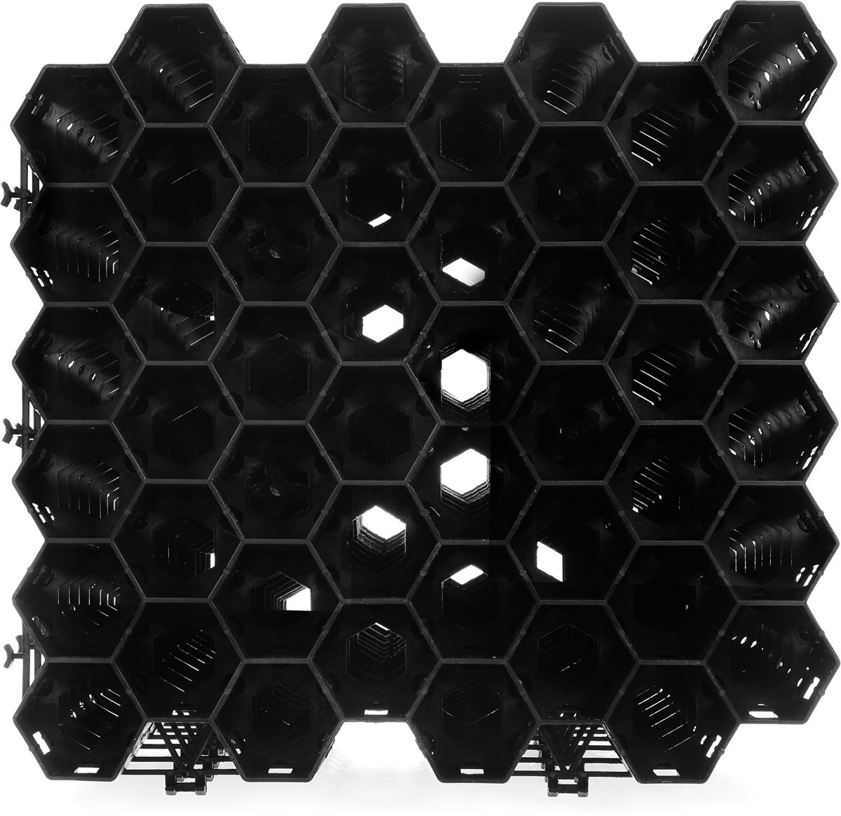 Решетка газонная Konex, 38 х 36 х 4 см, 10 штГРГазонная решетка Konex - это ячеистый модуль, который используется для укрепления грунта и защиты корневой системы растений газона от повреждений, например, для создания зеленых пешеходных и игровых зон, а также так называемых экопарковок. Ячейки газонной решетки свободно пропускают извне влагу, а изнутри - растущую траву, надежно предохраняя растения от вытаптывания пешеходами или повреждения колесами транспорта. Газонные решетки укладываются в грунт на небольшую глубину, не препятствуют прорастанию травы, способствуют образованию красивого и ровного покрытия с надежно защищенной ячейками корневой системой. Размер секции: 38 х 36 х 4 см. Количество секций: 10 шт.