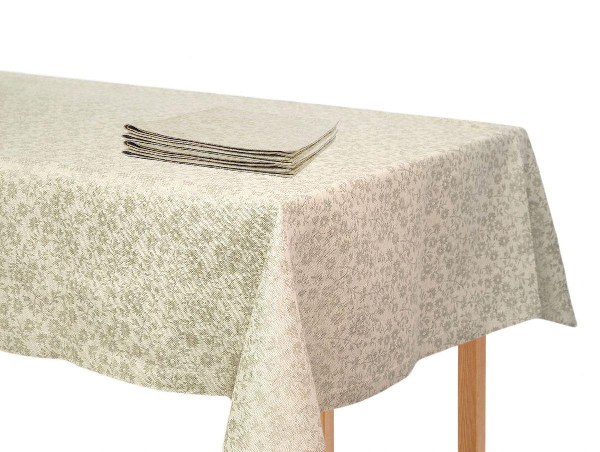 Комплект столового белья Moderna Ромашка бежевая, цвет: бежевый, 5 предметовPC-c-b-90х90