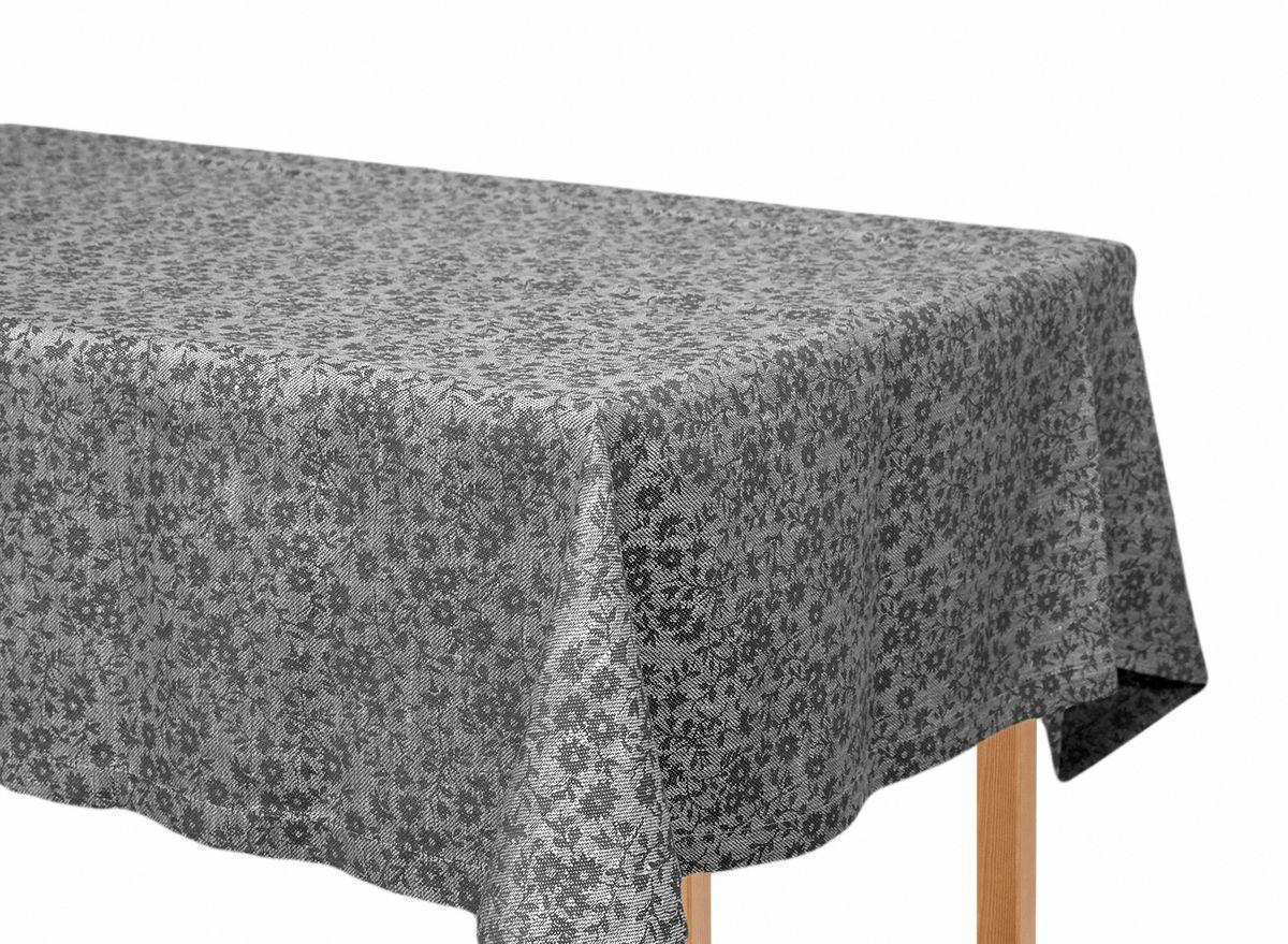 Скатерть жаккардовая Moderna Ромашка темная, цвет: серый, черный, 155 х 220 смPC-c-d-155х220