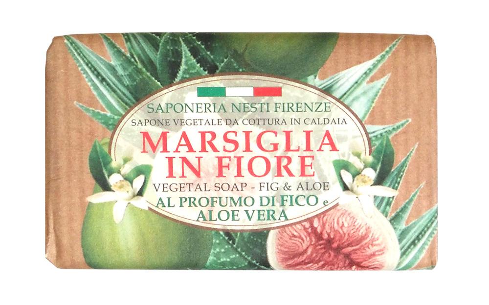 Nesti Dante Мыло Fig & Aloe Инжир и Алое 125 г1080124Роскошное натуральное растительное мыло линии Цветущий Марсель от Nesti Dante содержит драгоценные экстракты цветов и плодов инжира, напоенных щедрым солнцем Тосканы