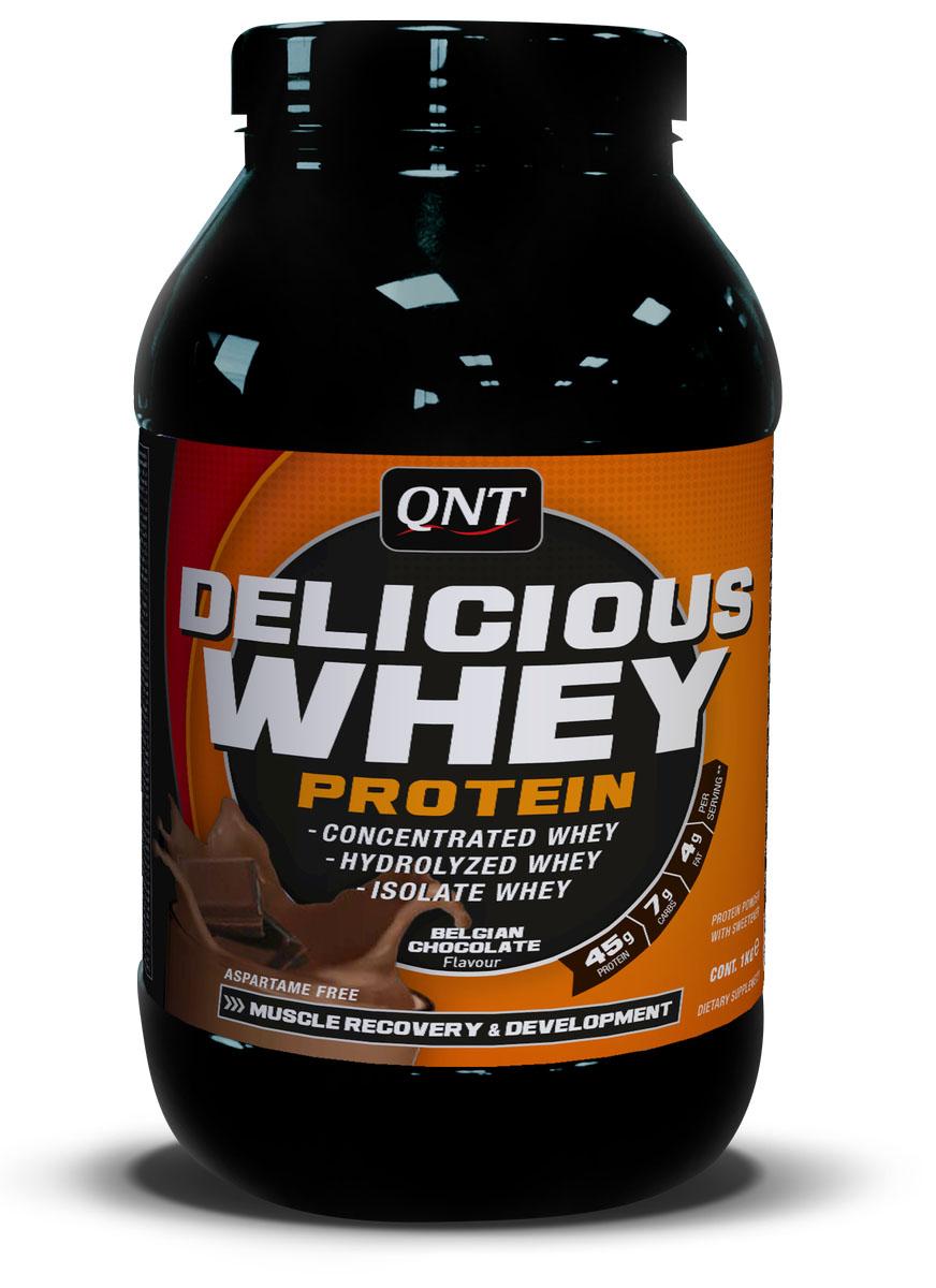 Сывороточный протеин QNT DELICIOUS WHEY PROTEIN, вкус: Шоколад, 2,2 кгNB01070Протеин Delicious Whey Protein от QNT изготовлен из концентрата сывороточного белка, изолят белка и гидролизата белка высокого качества. Спортивная добавка содержит самые необходимые аминокислоты для наращивания мышечной массы и увеличения силовых показателей. Высокая концентрация белка с минимальным содержанием жиров и углеводов служит прекрасной основой для сбалансированной высокобелковой диеты. Как всем известно, белок – это главный строительный материал, а протеин Delicious Whey Protein является его отличным источником. Компания QNT разработала продукт, который специально предназначен для обеспечения спортсмена питательными веществами для максимального роста мышечной массы. По мнению многих специалистов, протеин Delicious Whey Protein является оптимальным соотношением цена/качество. Данный продукт отлично усваивается организмом и имеет хорошую растворимость. С помощью разработки специалистов QNT вы сможете сделать ощутимый шаг на пути к своей идеальной форме. Proteins (Whey...
