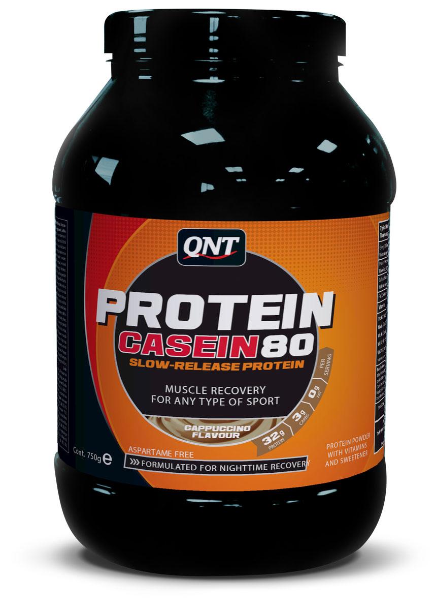 Протеин QNT Pro 80, вкус: Капучино, 750грQNT0963Когда спортсменам необходимо поддерживать мышечную массу, Протеин 80 – незаменимый партнер. Произведен из казеината кальция, он легко размешивается в воде. Содержит 80% протеина высокой биологической ценности. Также, комлекс витамина В способствует лучшей ассимиляции протеина. Во время тренировок, Протеин 80 доставляет незаменимые элементы для высшей кондиции и предотвращает катаболизм мышечной ткани. Имеет неповторимый вкус! Оптимальная смесь быстро - и медленноусвояемого протеина Содержит дополнительные углеводы для поддержки и восстановления при физических нагрузках Доступен в 6 вкусах Мгновенно растворяется Calcium Caseinate, Whey Powder, Whey Protein Concentrate, Flavour, Sweetener E955, Vit. B3 (Nicotinamide), Vit. B5 (D-Pantothenate, Calcium), Vit. B6 (Pyridoxine Hydrochloride), Vit. B2 (Riboflavin), Vit. B12 (Cyanocobalamin). Contains Milk (Incl. Lactose)