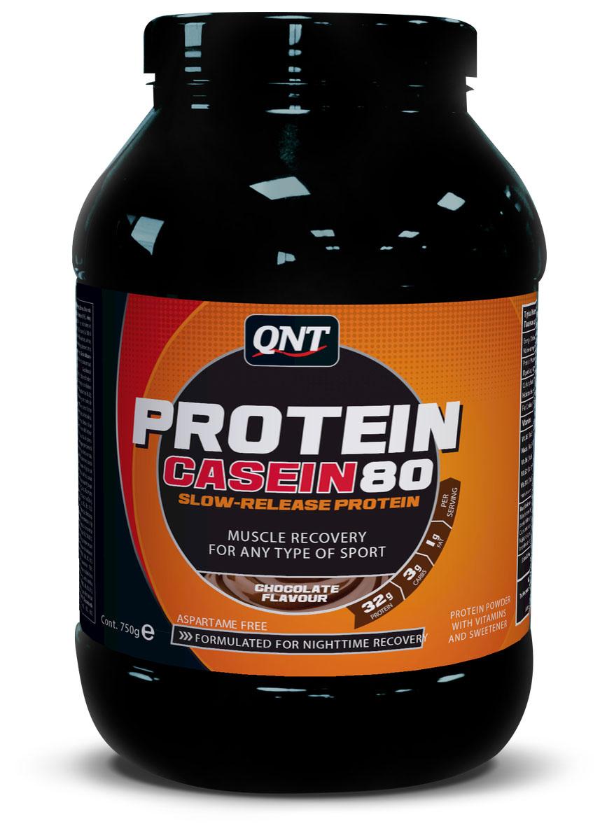 Протеин QNT Pro 80, вкус: Шоколад, 750грQNT0980Когда спортсменам необходимо поддерживать мышечную массу, Протеин 80 – незаменимый партнер. Произведен из казеината кальция, он легко размешивается в воде. Содержит 80% протеина высокой биологической ценности. Также, комлекс витамина В способствует лучшей ассимиляции протеина. Во время тренировок, Протеин 80 доставляет незаменимые элементы для высшей кондиции и предотвращает катаболизм мышечной ткани. Имеет неповторимый вкус! Оптимальная смесь быстро - и медленноусвояемого протеина Содержит дополнительные углеводы для поддержки и восстановления при физических нагрузках Доступен в 6 вкусах Мгновенно растворяется Calcium Caseinate, Whey Powder, Whey Protein Concentrate, Flavour, Sweetener E955, Vit. B3 (Nicotinamide), Vit. B5 (D-Pantothenate, Calcium), Vit. B6 (Pyridoxine Hydrochloride), Vit. B2 (Riboflavin), Vit. B12 (Cyanocobalamin). Contains Milk (Incl. Lactose)
