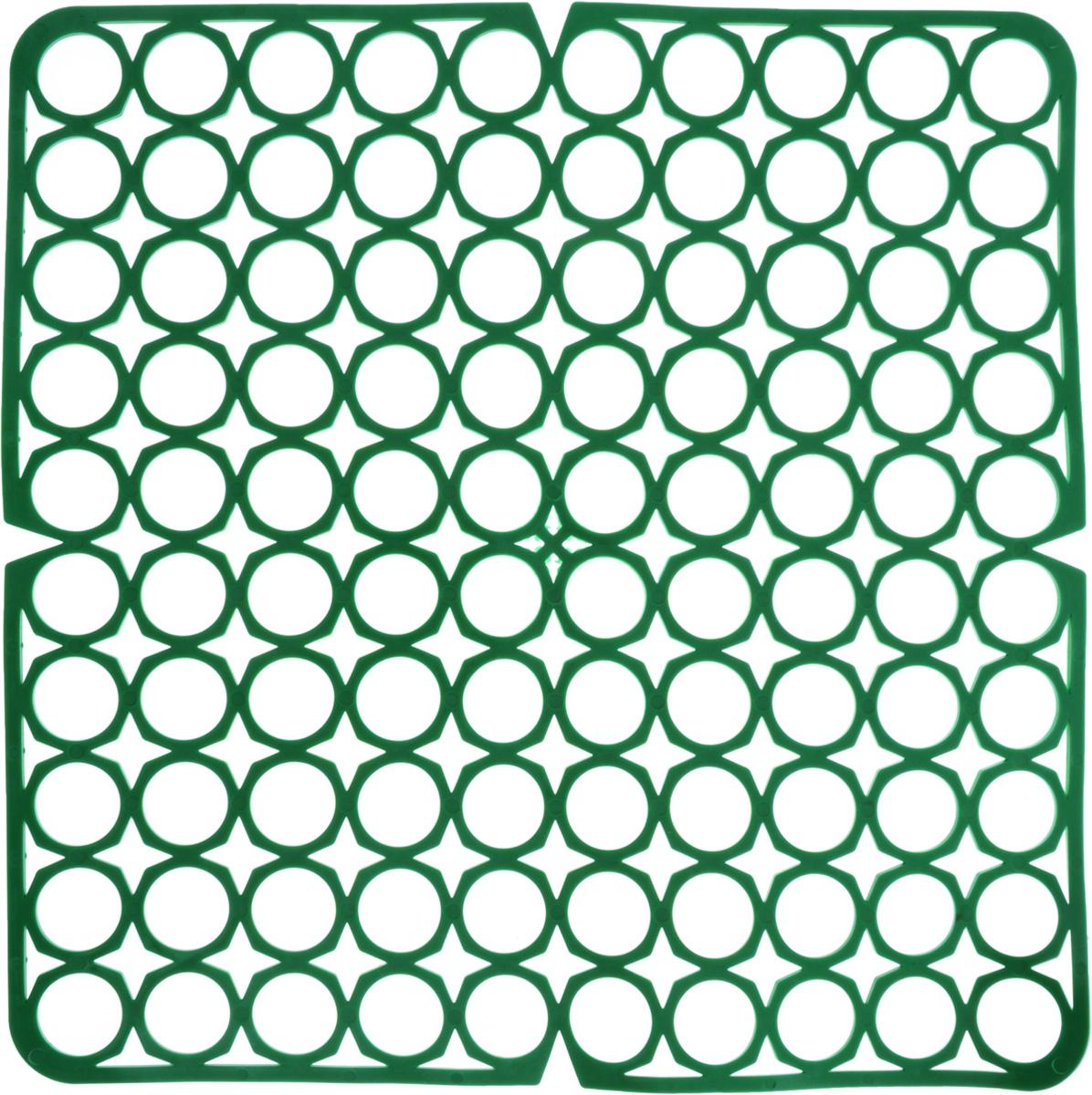 Коврик для раковины York, цвет: зеленый, 27,5 х 27,5 см9561/095610_зеленыйСтильный и удобный коврик для раковины York изготовлен из сложных полимеров. Он одновременно выполняет несколько функций: украшает, защищает мойку от царапин и сколов, смягчает удары при падении посуды в мойку. Коврик также можно использовать для сушки посуды, фруктов и овощей. Он легко очищается от грязи и жира.