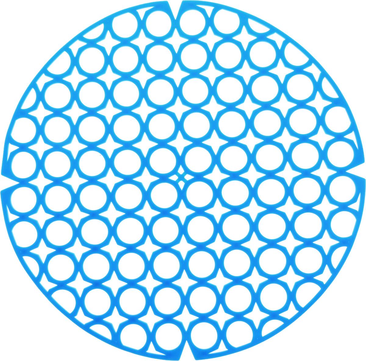 Коврик для раковины York, цвет: голубой, диаметр 27,5 см9560/095600_голубойСтильный и удобный коврик для раковины York изготовлен из сложных полимеров. Он одновременно выполняет несколько функций: украшает, защищает мойку от царапин и сколов, смягчает удары при падении посуды в мойку. Коврик также можно использовать для сушки посуды, фруктов и овощей. Он легко очищается от грязи и жира. Диаметр: 27,5 см.