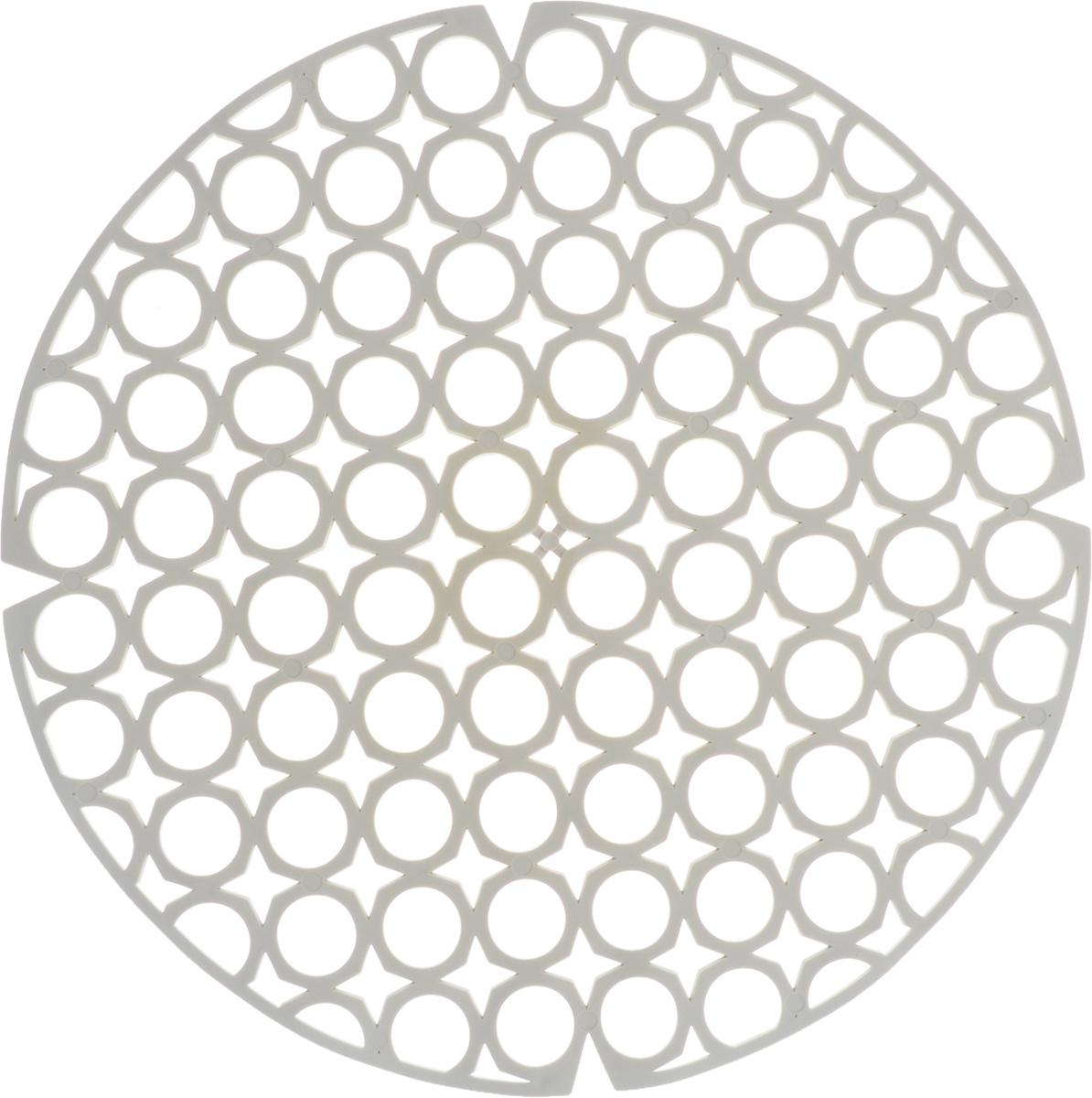 Коврик для раковины York, цвет: светло-серый, диаметр 27,5 см9560/095600_светло-серыйСтильный и удобный коврик для раковины York изготовлен из сложных полимеров. Он одновременно выполняет несколько функций: украшает, защищает мойку от царапин и сколов, смягчает удары при падении посуды в мойку. Коврик также можно использовать для сушки посуды, фруктов и овощей. Он легко очищается от грязи и жира. Диаметр: 27,5 см.