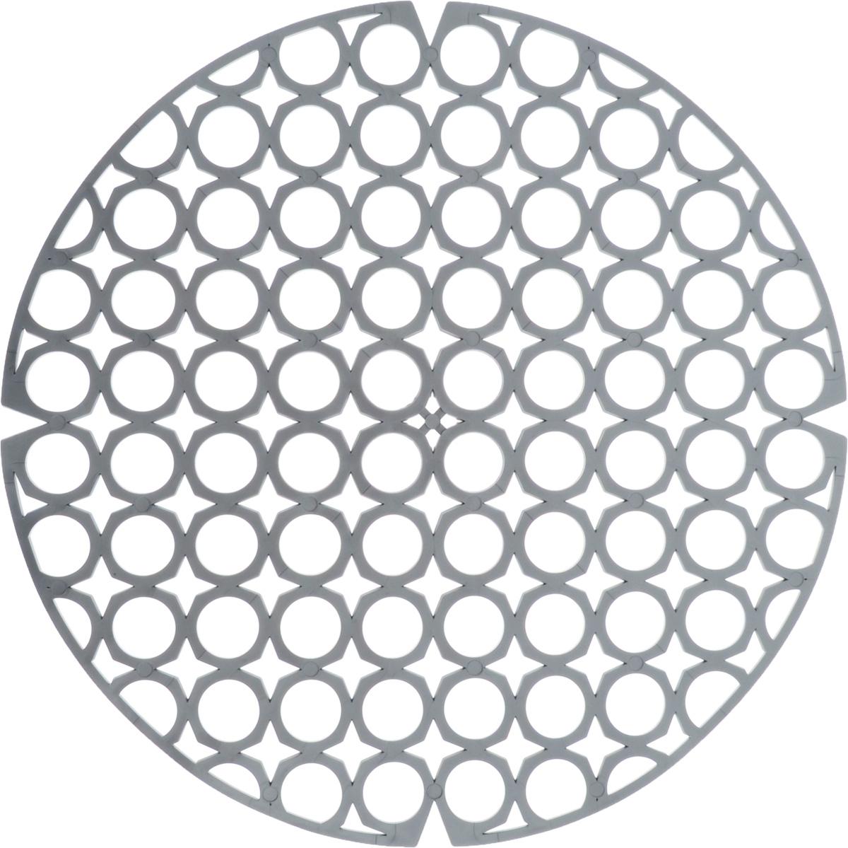 Коврик для раковины York, цвет: серый, диаметр 27,5 см9560/095600_серыйСтильный и удобный коврик для раковины York изготовлен из сложных полимеров. Он одновременно выполняет несколько функций: украшает, защищает мойку от царапин и сколов, смягчает удары при падении посуды в мойку. Коврик также можно использовать для сушки посуды, фруктов и овощей. Он легко очищается от грязи и жира. Диаметр: 27,5 см.