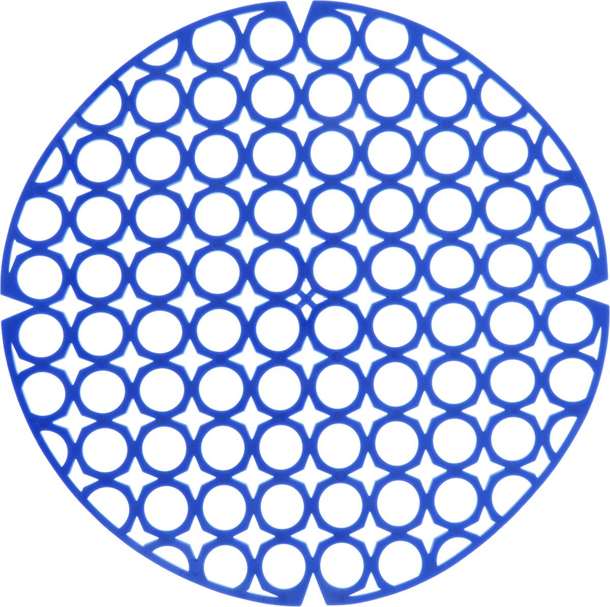 Коврик для раковины York, цвет: синий, диаметр 27,5 см9560/095600_синийСтильный и удобный коврик для раковины York изготовлен из сложных полимеров. Он одновременно выполняет несколько функций: украшает, защищает мойку от царапин и сколов, смягчает удары при падении посуды в мойку. Коврик также можно использовать для сушки посуды, фруктов и овощей. Он легко очищается от грязи и жира. Диаметр: 27,5 см.