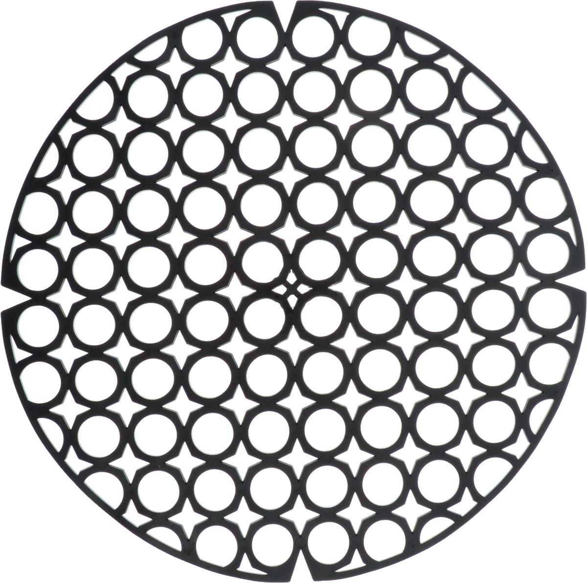 Коврик для раковины York, цвет: черный, диаметр 27,5 см9560/095600_черныйСтильный и удобный коврик для раковины York изготовлен из сложных полимеров. Он одновременно выполняет несколько функций: украшает, защищает мойку от царапин и сколов, смягчает удары при падении посуды в мойку. Коврик также можно использовать для сушки посуды, фруктов и овощей. Он легко очищается от грязи и жира. Диаметр: 27,5 см.