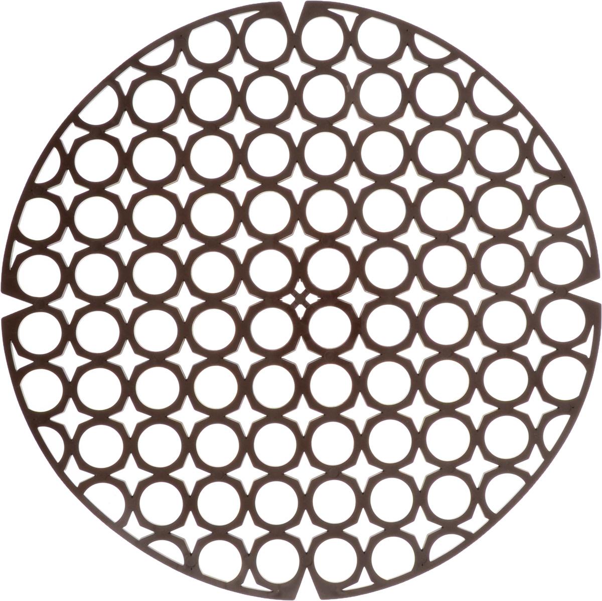 Коврик для раковины York, цвет: коричневый, диаметр 27,5 см9560/095600_коричневыйСтильный и удобный коврик для раковины York изготовлен из сложных полимеров. Он одновременно выполняет несколько функций: украшает, защищает мойку от царапин и сколов, смягчает удары при падении посуды в мойку. Коврик также можно использовать для сушки посуды, фруктов и овощей. Он легко очищается от грязи и жира. Диаметр: 27,5 см.