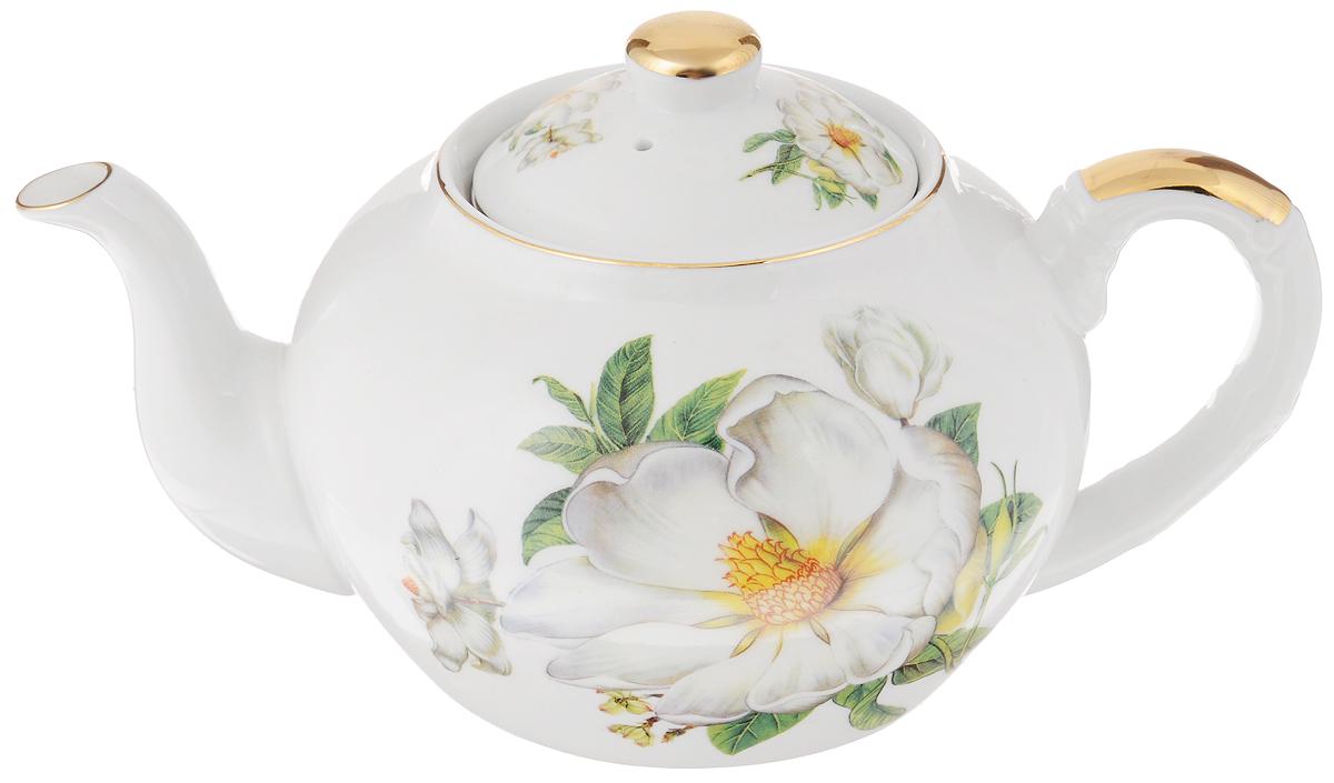 Чайник заварочный Loraine Пионы, 1 л21125Заварочный чайник Loraine Пионы изготовлен из высококачественной керамики. Посуда оформлена ярким рисунком. Такой чайник идеально подойдет для заваривания чая. Он хорошо держит температуру, что способствует более полному раскрытию цвета, аромата и вкуса чайного букета. Чайник оснащен сетчатым фильтром, который задерживает чаинки и предотвращает их попадание в чашку. Изделие прекрасно дополнит сервировку стола к чаепитию и станет его неизменным атрибутом. Диаметр (по верхнему краю): 6,5 см. Диаметр основания: 9 см. Высота чайника (без учета крышки): 10,5 см.