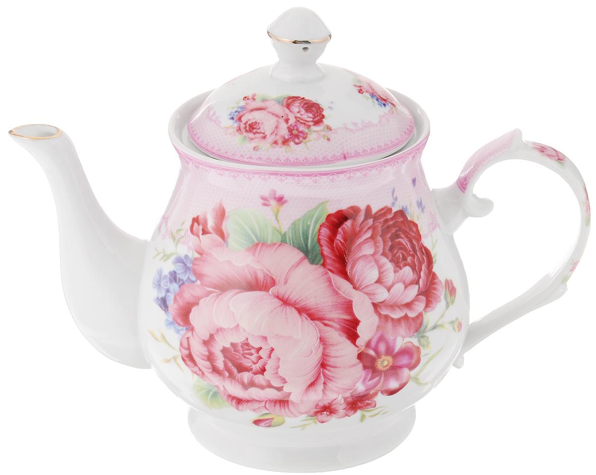 Чайник заварочный Loraine Цветочная фантазия, 800 мл24577Заварочный чайник Loraine Цветочная фантазия изготовлен из высококачественной керамики. Посуда оформлена ярким рисунком. Такой чайник идеально подойдет для заваривания чая. Он хорошо держит температуру, что способствует более полному раскрытию цвета, аромата и вкуса чайного букета. Чайник оснащен сетчатым фильтром, который задерживает чаинки и предотвращает их попадание в чашку. Изделие прекрасно дополнит сервировку стола к чаепитию и станет его неизменным атрибутом. Диаметр (по верхнему краю): 6,5 см. Диаметр основания: 8 см. Высота чайника (без учета крышки): 12 см.