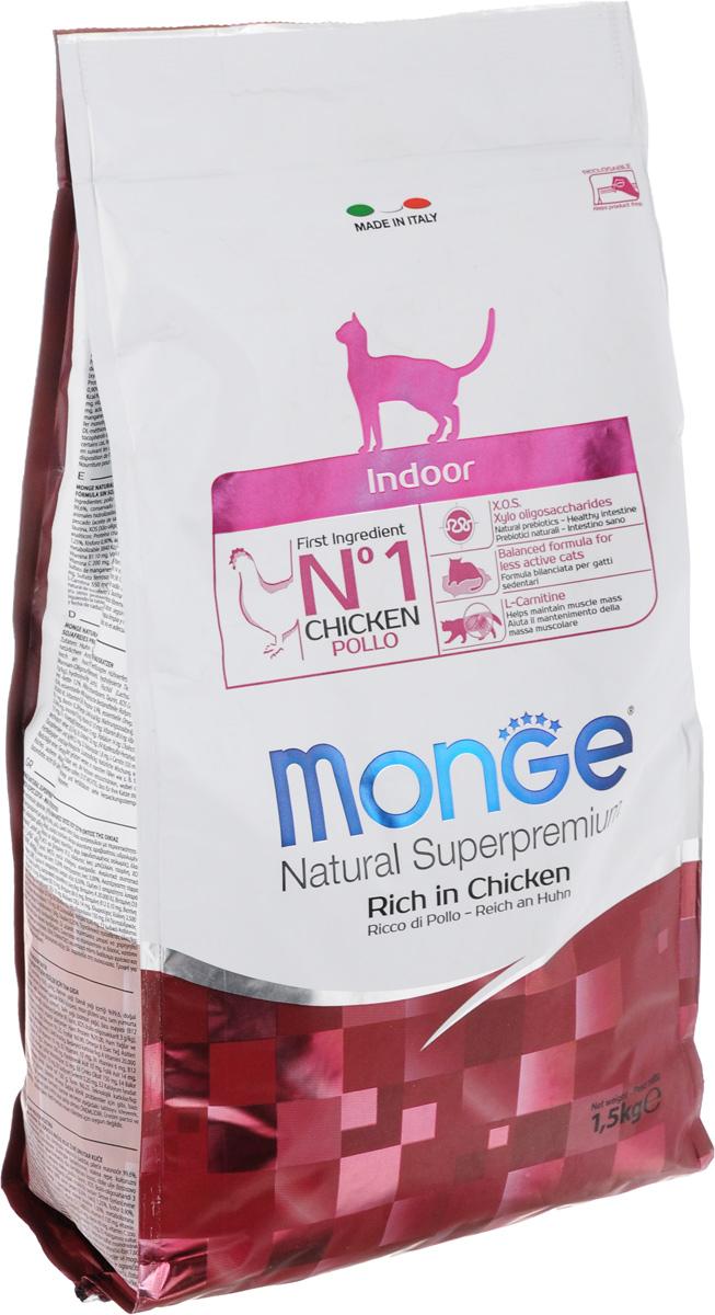 Корм сухой Monge для взрослых домашних кошек, с курицей, 1,5 кг70005111Сухой корм Monge - это полноценный корм с превосходным вкусом для домашних кошек, которые нуждаются в контролируемом питании, особенно при стерилизации. Потребление растительных волокон позволяет исключить накопления комочков шерсти в желудке. Оптимальное соотношение жировых кислот Омега- 3 и Омега-6 способствует нормальному функционированию сердца, и обеспечивает идеальный баланс кишечной флоры. Также, содержит L-карнитин, который препятствует накоплению жира, сохраняя при этом функции печени животного. Безупречная рецептура данного корма удовлетворяет как аппетит кошки, так и помогает сохранить зубы здоровыми и чистыми, дыхание свежим, а шерсть блестящей. Товар сертифицирован.