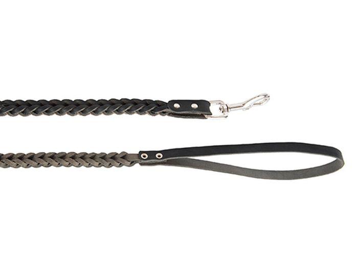 Поводок для собак Каскад Классика, плетеный, цвет: черный, ширина 1 см, длина 1 м02010022чПоводок для собак Каскад Классика изготовлен из высококачественной натуральной кожи в виде объемного плетения и снабжен металлическим карабином. Изделие отличается не только исключительной надежностью и удобством, но и привлекательным современным дизайном. Поводок - необходимый аксессуар для собаки. Ведь в опасных ситуациях именно он способен спасти жизнь вашему любимому питомцу. Иногда нужно ограничивать свободу своего четвероногого друга, чтобы защитить его или себя от неприятностей на прогулке. Длина поводка: 1 м. Ширина поводка: 1 см.