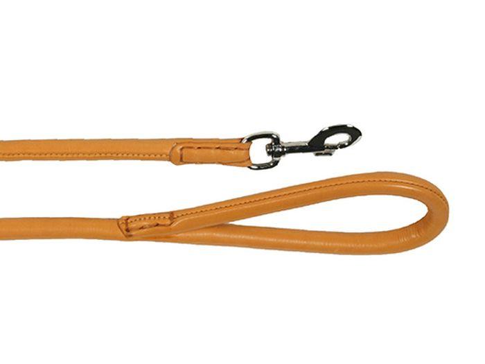Поводок для собак Каскад Элита, цвет: коричневый, ширина 1,4 см, длина 1 м. 0201400302014003кПоводок для собак Каскад Элита изготовлен из кожи и снабжен металлическим карабином. Поводок отличается не только исключительной надежностью и удобством, но и ярким дизайном. Он идеально подойдет для активных собак, для прогулок на природе и охоты. Поводок - необходимый аксессуар для собаки. Ведь в опасных ситуациях именно он способен спасти жизнь вашему любимому питомцу. Длина поводка: 1 м. Ширина поводка: 1,4 см.