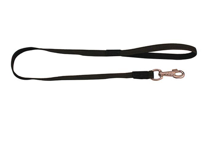 Поводок нейлоновый Каскад Классика, с латексной нитью, двухсторонний, 20 мм х 10 м с латунным карабином19000808л