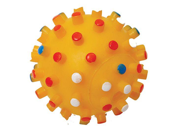Игрушка для животных Каскад Мяч. Мина, резиновый, 10 см27754627_желтыйМяч Мина резиновый 10см