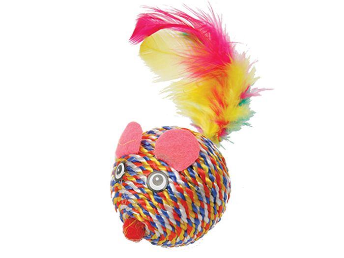 Игрушка для животных Каскад Когтеточка-мышь с перьями, 5 см27754645Когтеточка-мышь с перьями 5см