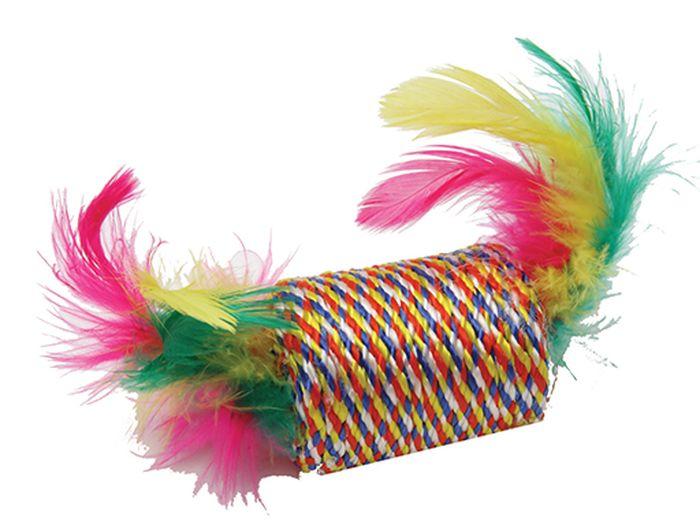 Игрушка для животных Каскад Когтеточка-бочонок с перьями, 5,5 см27754646Когтеточка-бочонок с перьями 5,5см