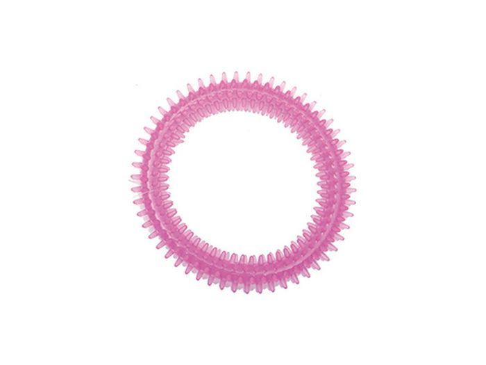Игрушка для животных Каскад Кольцо шипованное для чистки зубов, акрил, 12 см27799327Кольцо шипованное для чистки зубов акрил 12 см