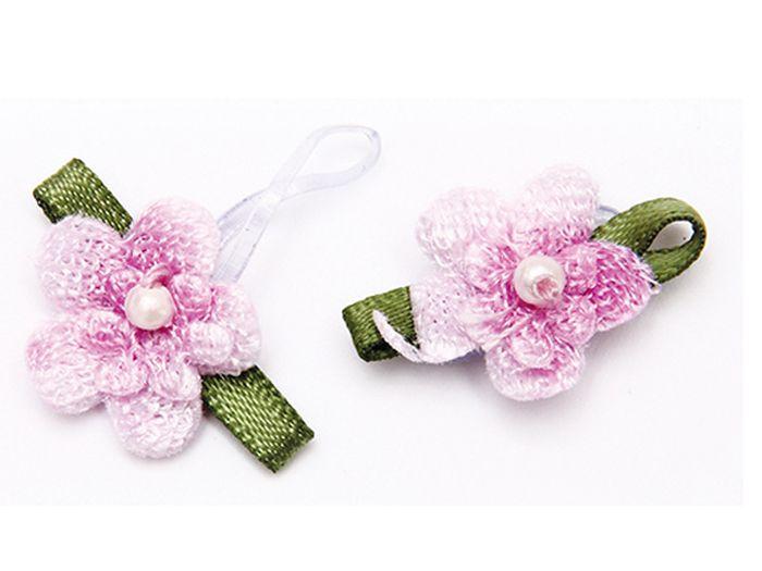 Резинка для животных Каскад Цветочки, цвет: розовый, зеленый, 2,5 х 1,5 см, 2 шт48302320Резинка для животных Каскад Цветочки - это красивое и стильное украшение для собак мелких пород и других животных. Изделия выполнены из тканей различных структур, плотности и фактуры и латексной резинки. Размер изделия: 2,5 х 1,5 см.