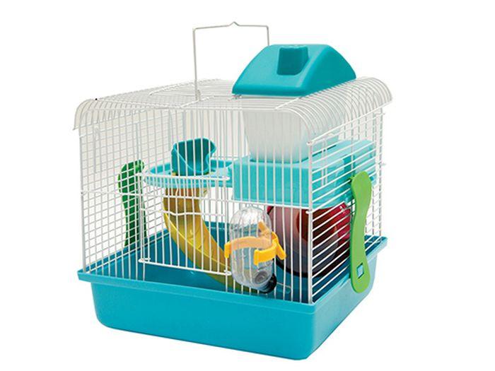 Клетка Каскад, для грызунов, с оборудованием, 26х20х30 см55001609Клетка для грызунов (с оборудованием) 26х20х30