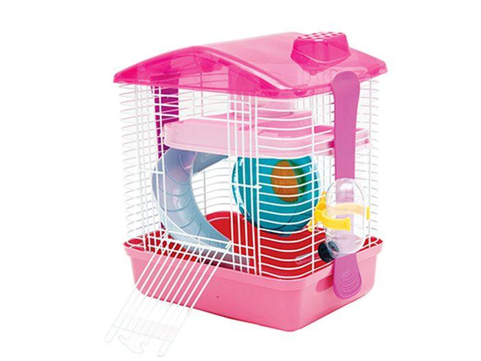 Клетка Каскад, для грызунов, с оборудованием, 26х17,5х27,5 см55001610Клетка для грызунов (с оборудованием) 26х17.5х27.5