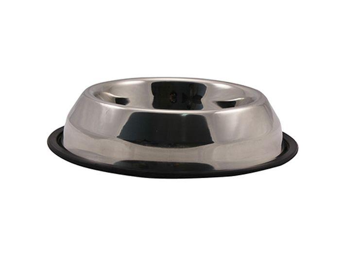 Миска для животных Каскад, из нержавеющей стали, на резине, пирамида, объем 0,7 л