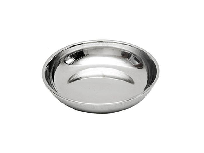 Блюдце для животных Каскад, из нержавеющей стали, диаметр 13 см