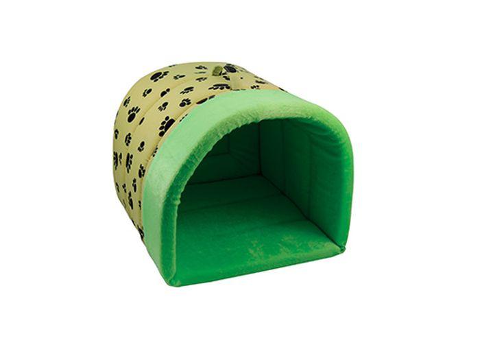 Дом-тоннель для животных Лапки №2, цвет: салатовый92000052Дом-тоннель Лапки салатовый №2 35*35*30см